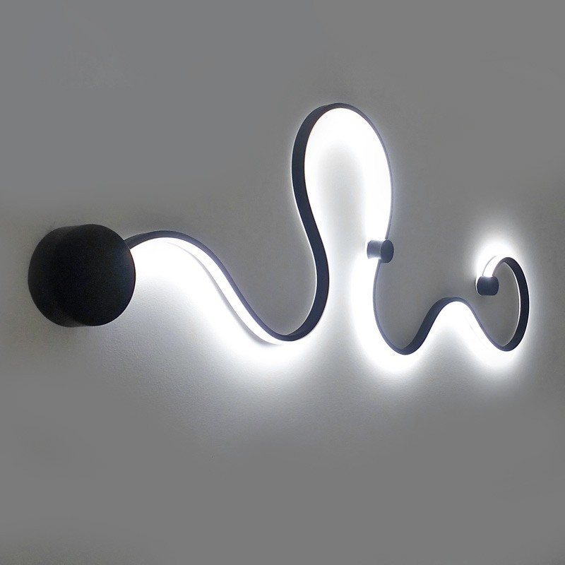 Modern Wall Lamps Bedroom Study Living Balcony Acrylic Lights Home Deco In White Black Iron Sconce Led Lights Fixtures Aisle