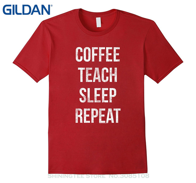 T Shirt Baumwolle Manner Kurzarm T Shirts Kaffee Lehren Schlaf