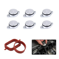 Diesel Swirl Flap Blanks Replacement Bungs With Intake Manifold Gaskets Repair Delete Kit 6 x 22mm For BMW M57 Auto Accessories