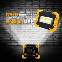 10W COB LED Rechargeable LED Camping Light Lantern Work Lamp 18650 Battery Floodlight USB Portable Power Bank Searchlight