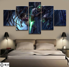 Home Decor Modular Canvas Picture 5 Piece StarCraft Game Painting Poster Wall For Art Wholesale