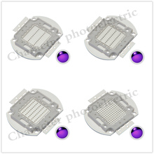 UV Purple High Power LED Bulbs Ultra Violet Chips 360nm 365nm 370nm 380nm 390nm 395nm 400nm 405nm 1W 3W 5W 10W 20W 30W 50W 100W цена