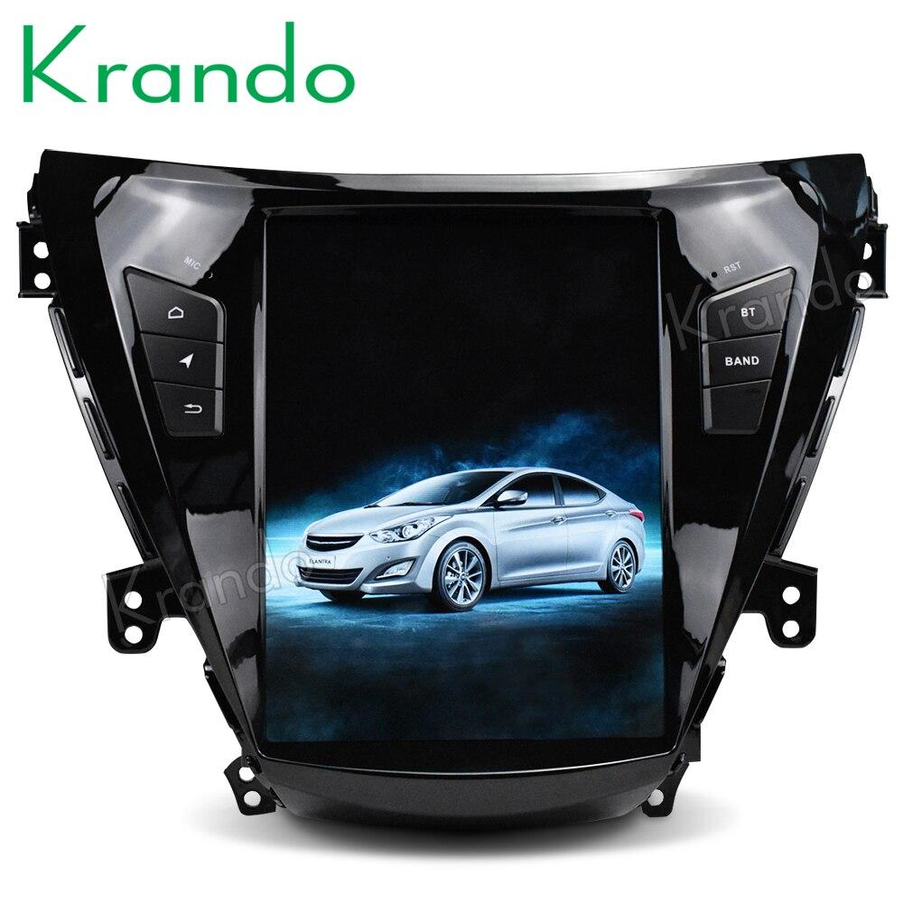 Krando Android 8 1 10 4 Tesla Vertical car dvd audio player For Hyundai Elantra 2011