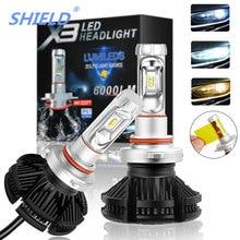 2pcs Led Car Headlight 50W 12000LM H4 H7 LED 6500K ZES Chip H1 H11 H27 9005 HB3 9006 HB4 9007 Fog Lamp Auto