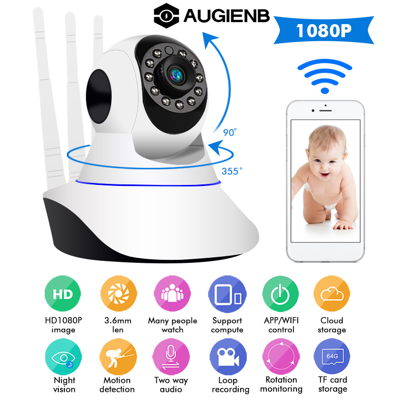 1080P WiFi Wireless/Wired IP Camera Home Security Surveillance Camera Pan&Tilt Night Vision1080P WiFi Wireless/Wired IP Camera Home Security Surveillance Camera Pan&Tilt Night Vision