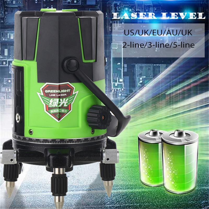 2 3 5 lignes 2 4 6 Points niveau Laser extérieur auto-nivelant 360 niveau de trépied de niveau Laser à inclinaison verticale et horizontale
