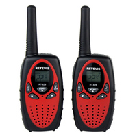 2Pcs RT628 Mini Two Way Radio Wireless Walkie Talkie Toy for Children Outdoor Sport Kits American Frequency Red