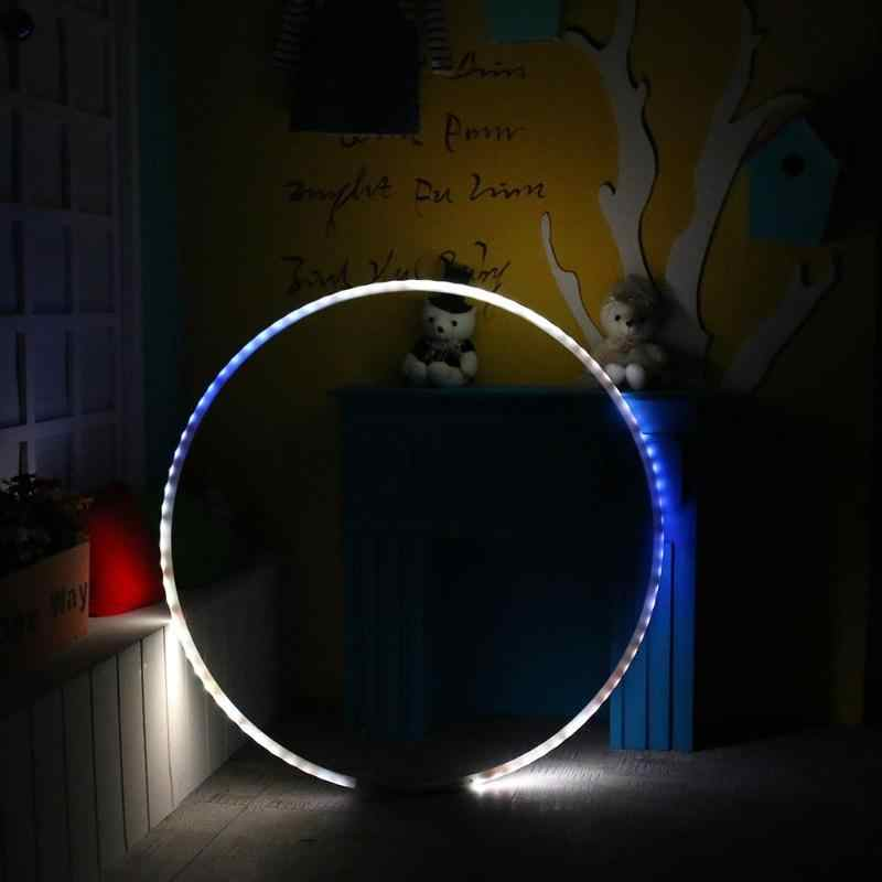 LED Lighting Sport Hoop Changing Light Rechargable Loose Weight Toy Red Hoop Holiday DIY Decorations Fitness Training Diet Tool