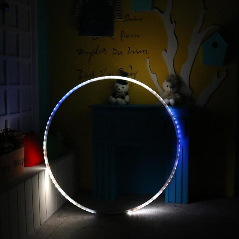 LED Lighting Sport Fitness Circle Changing Light Rechargable Loose Weight Holiday DIY Decorations Fitness Training Diet Tool