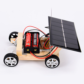 Assembly RC Toys DIY Mini Wooden Car  3