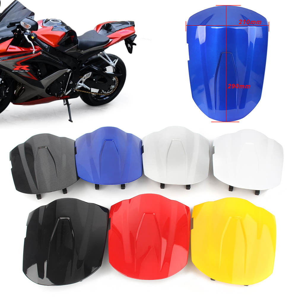 Motorcycle Rear Pillion Passenger Cowl Seat Back Cover Fairing <font><b>Parts</b></font> For <font><b>Suzuki</b></font> GSXR600 GSXR750 <font><b>GSXR</b></font> 600 <font><b>750</b></font> 2008 2009 K8 image