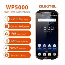 Original Oukitel Wp5000 Ip68 Waterproof Smartphone Android 7.1 Helio P25 Octa Core 6gb Ram 64gb Rom 5200mah 9v/2a Mobile Phone
