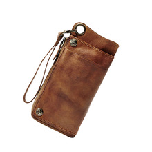 Luxury Handmade Genuine Leather Men Wallet Men Purse Leather Long Wallet zip-around Clutch Bag Male purse Women Wallet Money bag joyir fashion wallet men genuine leather wallet men s purse long hasp wallet men clutch wallet bag money bag card holder