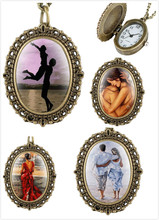 купить Personality of The Oval Pocket Watch for Women Retro Small Pocket Watches for Lovers Romantic Nevklace Watch Pocket for Couple по цене 161.53 рублей