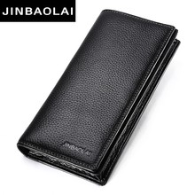 Fashion long leather man wallets designer wallets man long purses business wallets for youth man vintage wallets