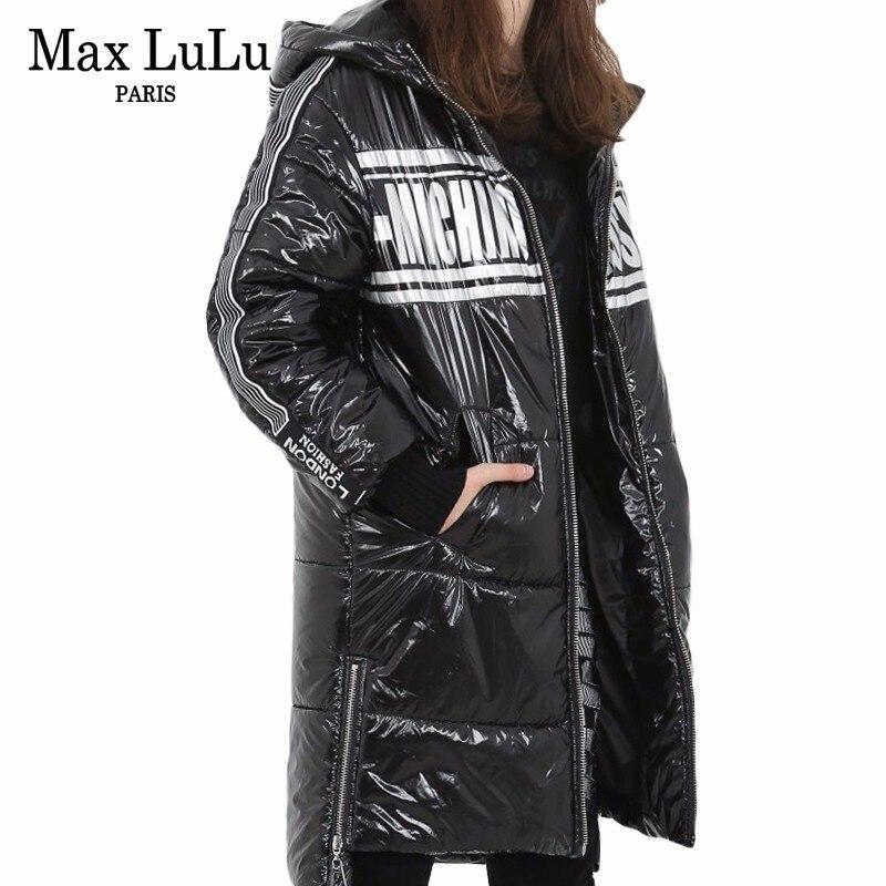 Max LuLu Fashion Korean Winterjas Ladies Hooded Long   Parka   Womens Black Winter Jacket Thicken Snow Streetwear Female Padded Coat