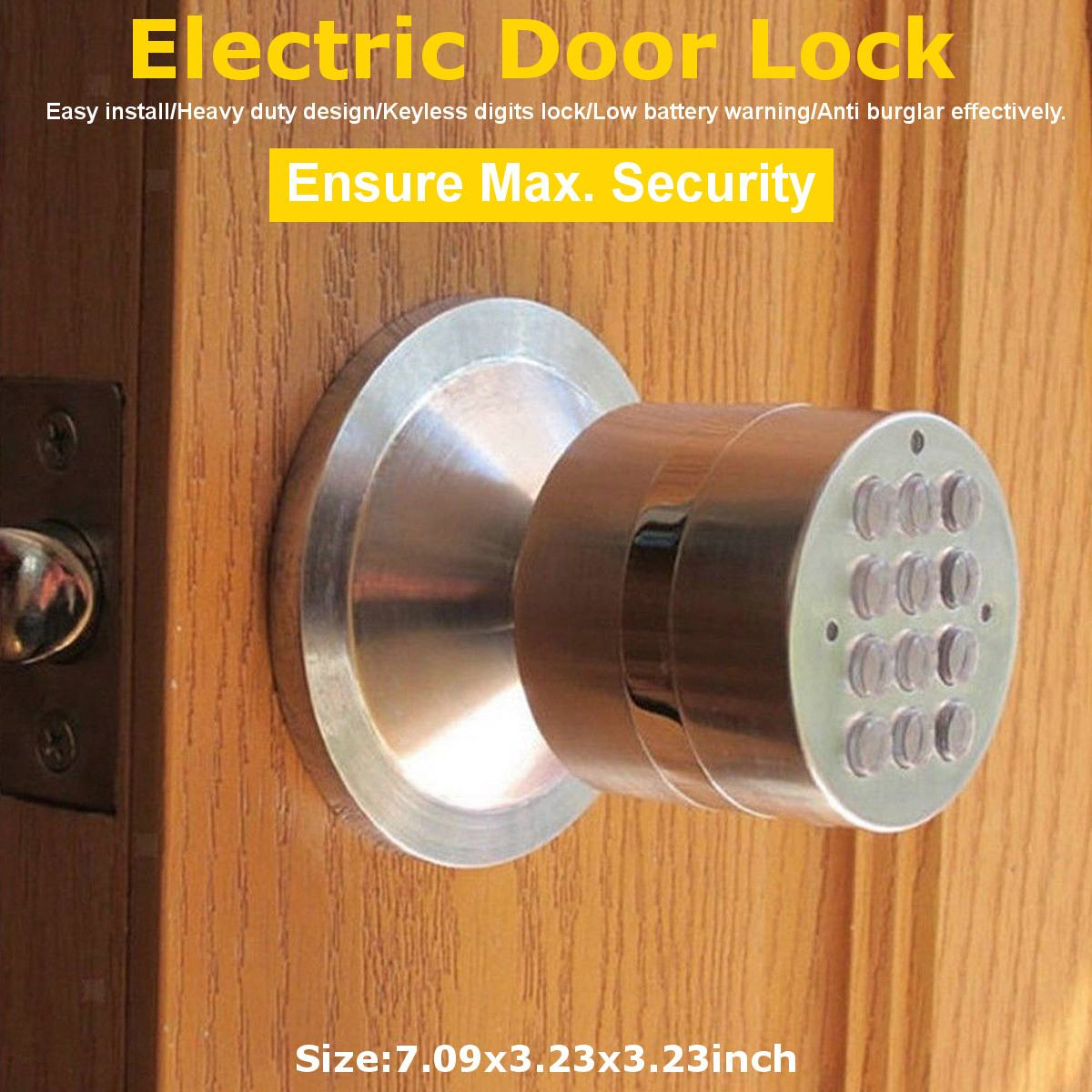 Electronic Door Lock,Smart Bluetooth Digital APP Keypad Code Keyless Door Lock,Password Keyless Door Lock Electronic