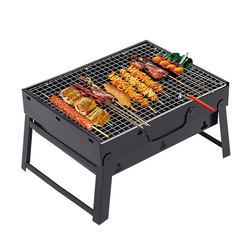 DIY Portable Outdoor Barbecue Grill Folding Detachable Design Camping BBQ Tools Stainless steel Hiking Camping Charcoal Grill