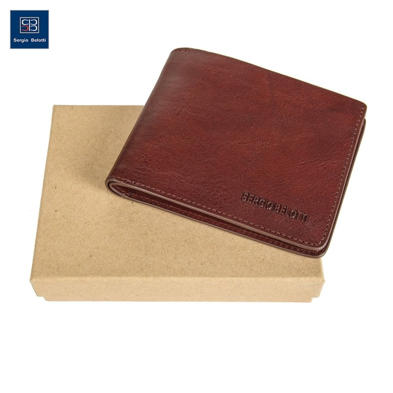 Coin Purse Sergio Belotti 3557 IRIDO Brown new fashion purse wallet female famous brand card holders cellphone pocket gifts for women money bag clutch coin purse ladies