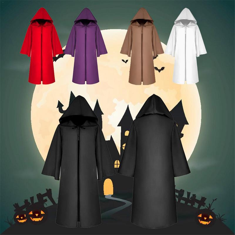 Halloween Costume Death Cloak Medieval Cape Star Wars Cloak Solid Color Halloween Cosplay Props Adult S-XL 5 Colors