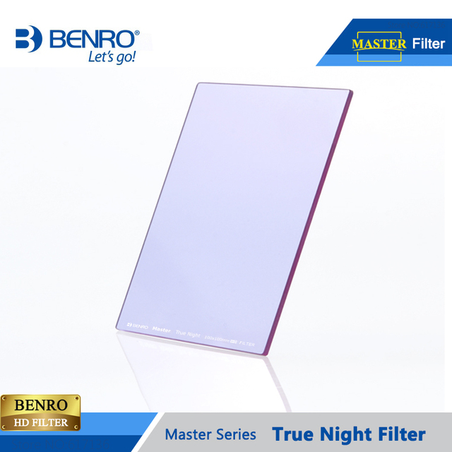 Benro 100*100mm 150*150mm Master True Night Filter Square Plug Filters Night Sky Photography Waterproof Optical Glass Free