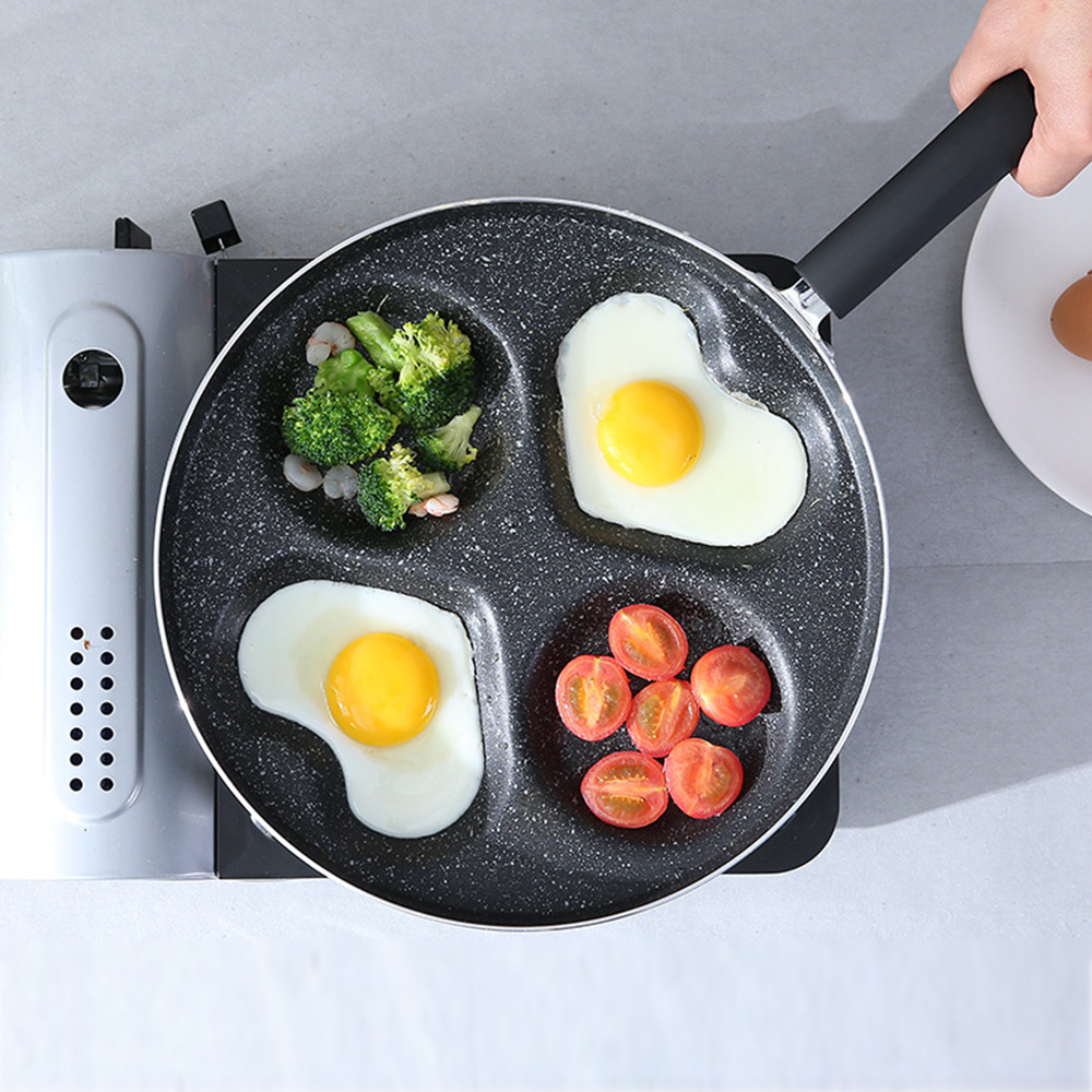 2019 Four-Hole Omelette Pot Eggs Ham Pancake Maker Frying Non-Stick Pan No Oil-Smoke Easy To Clean