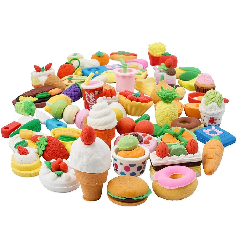 Food Erasers 20pcs Pencil Erasers for Kids Pull Apart Mini Eraser Birthday Party