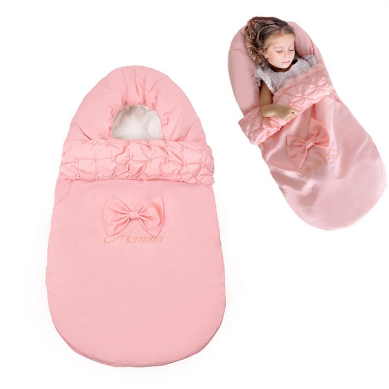 Baby Sleeping Bag Winter Envelope For Newborns Sleep Thermal Sack Cotton Kids Sleep Sack Blanket Sleepers цены онлайн
