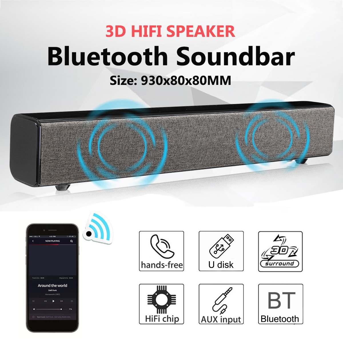 Home cinéma 50 W bluetooth barre de son TV AUX optiques bluetooth barre de son haut-parleurs barre de son avec Subwoofer haut-parleur pour TV avec supprimer