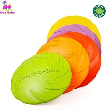 Dog Flying Disc Soft Flexible Rubber Fun Floating Foldable Flyer Disc Dog Flying Saucer Toy For Interactive Play Exercising HB bulls cross flyer disc lady 2014