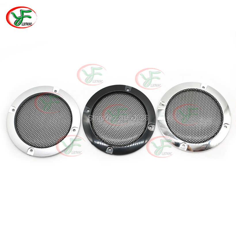 1 çift yüksek dereceli gümüş yedek yuvarlak hoparlör koruyucu Mesh Net kapak hoparlör ızgarası 3 inç hoparlör aksesuarları