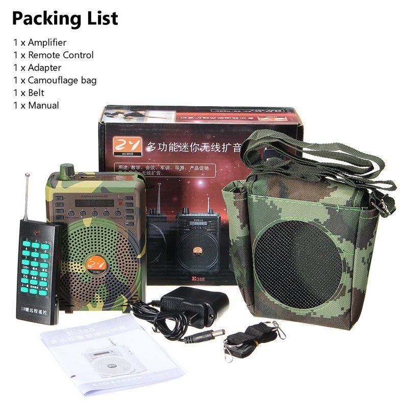 48 W électrique chasse leurre haut-parleur oiseau appelant prédateur son MP3 lecteur oiseau piège avec télécommande voix pièges Camouflage