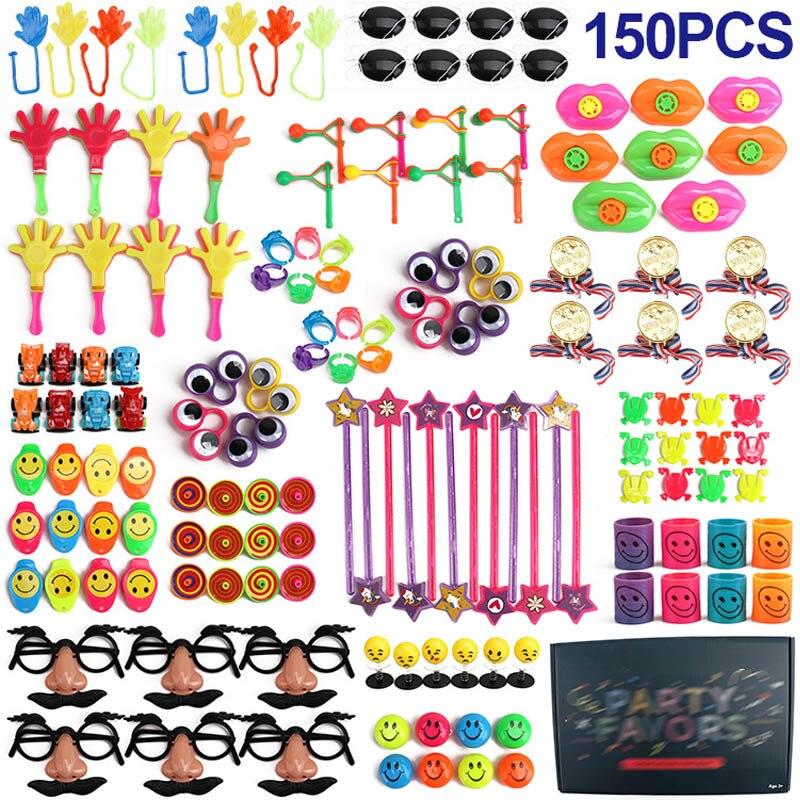 Presentes de festa de aniversário favores pequenos brinquedos a granel prêmios pinata jogo fontes de festa 150/120/100 pçs crianças brinquedo de quebra-cabeça prêmios giveaways