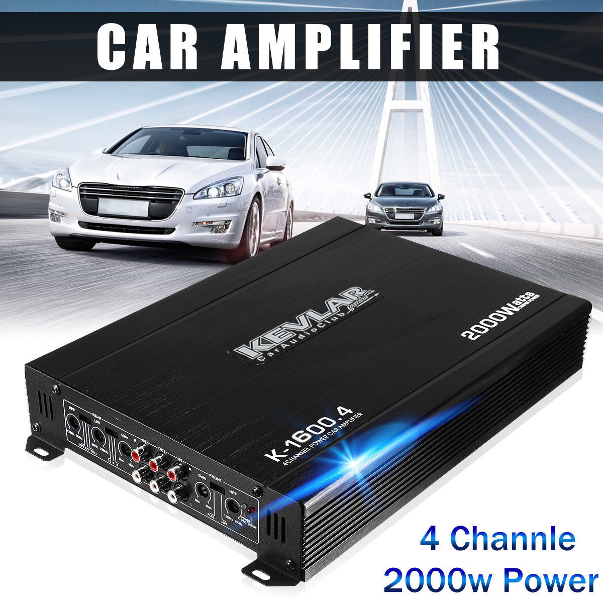 4 Channel 2000 Watts Professional Power Amplifier AMP Stereo GTD-Audio