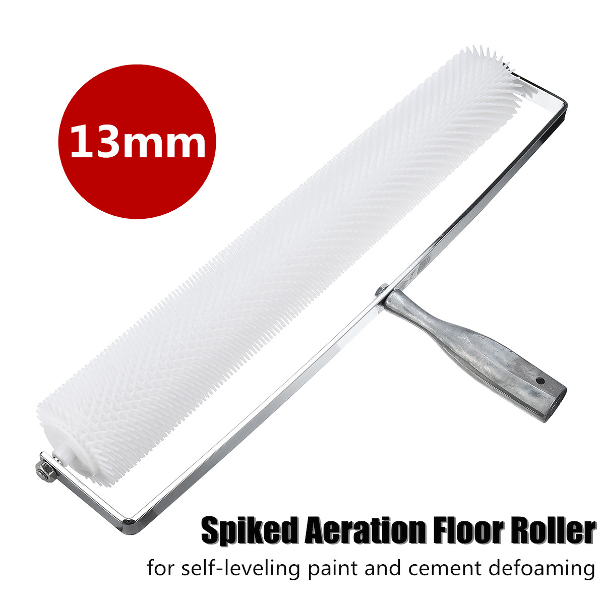 20 Inch Spiked Aeration Floor Roller Self Levelling Cement Defoaming Roller Screed Tools Accessories 13mm Home DIY Hand Tools20 Inch Spiked Aeration Floor Roller Self Levelling Cement Defoaming Roller Screed Tools Accessories 13mm Home DIY Hand Tools