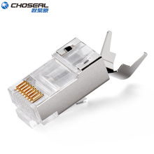 CHOSEAL Cat7 RJ45 Stecker 8P8C Modulare Ethernet Kabel Kopf Stecker RJ45 Stecker für Cat7 Ethernet Kabel