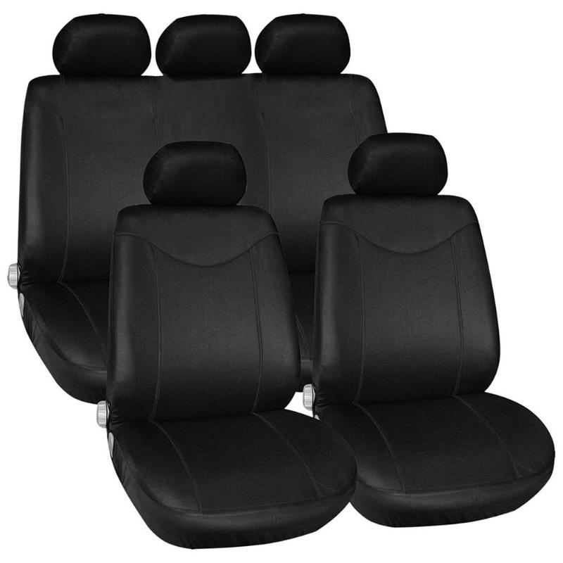 VODOOL 9Pcs/Set Car Seat Cover Polyester Car Front Back Seat Chair Cushion Covers Protector Car Styling Interior Accessories Automobiles Seat Covers     - title=