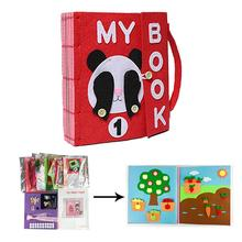 3D Kid Cloth Book DIY Panting Book Manual Intelligence Puzzle Children Toy Book Early Education Development Reading Book