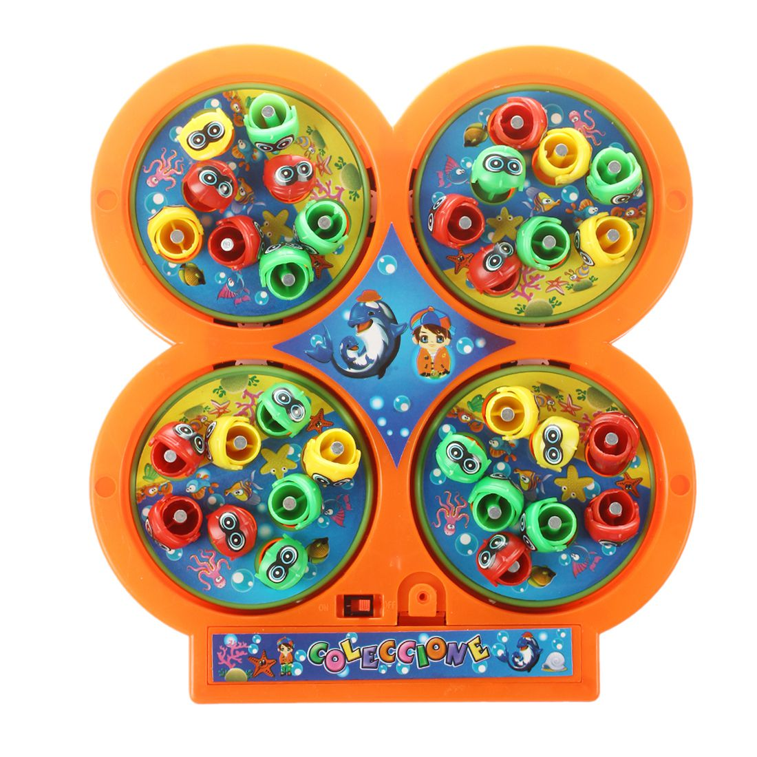 Toys & Hobbies Sweet-Tempered Random Color Go Fishing Game Electric Rotating Magnetic Magnet Fish Toy Kid Educational Toys