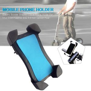 Image 1 - 5.5 Inch Phone Holder Carbon Fiber Electric Scooter Shaped Mobile Phone Holder For Xiaomi M365 Electric Scooter Accessories
