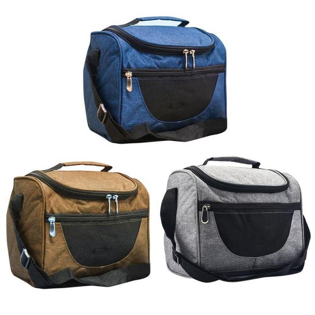 Double Deck Portable Thermal Insulation Bag Waterproof Lunch Bag Thermal Bag Picnic Bag