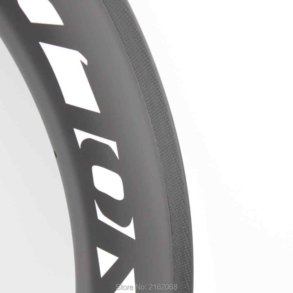 Nouveau bleu 700C 38 50 60mm vélo de route mat UD plein carbone fibre vélo tubulaire pneu tubeless jantes carbone roues livraison gratuite
