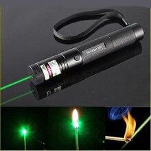G301Laser Bút Tập Trung Đốt Cháy 532nm Xanh Laser Bút Ánh Sáng Nhìn Thấy Tia 5Mw Con Trỏ Ballon Thiên Văn Học Con Trỏ Puntero Đèn Pin Laser