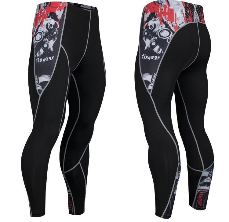 0e1399c475b49 Patchwork Running Tights Mens Leggings Men Compression Pants Workout  Jogging Training Sport Wear Leggins Gym Clothes 4XL Plus