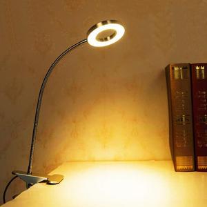 Image 5 - Lampe de bureau Portable pour Clip, Rechargeable par USB, lumière à intensité réglable, idéale pour la lecture la nuit, tatouage de sourcils, Nail Art, maquillage de beauté