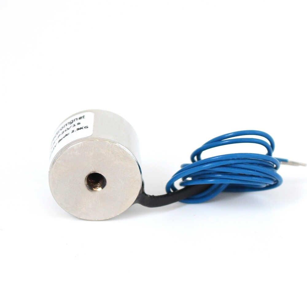 20*15 มม.ดูด 2.5 กก.25N DC 5V/12V/24V MINI Solenoid แม่เหล็กไฟฟ้าไฟฟ้ายก Electro MAGNET strong ผู้ถือ DIY 12V