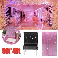 4x9Ft Sequin Backdrop Drapes Panels Hanging Curtains Photo Backdrop Wedding Party Events DIY Home Decoration Textiles 120X270cm