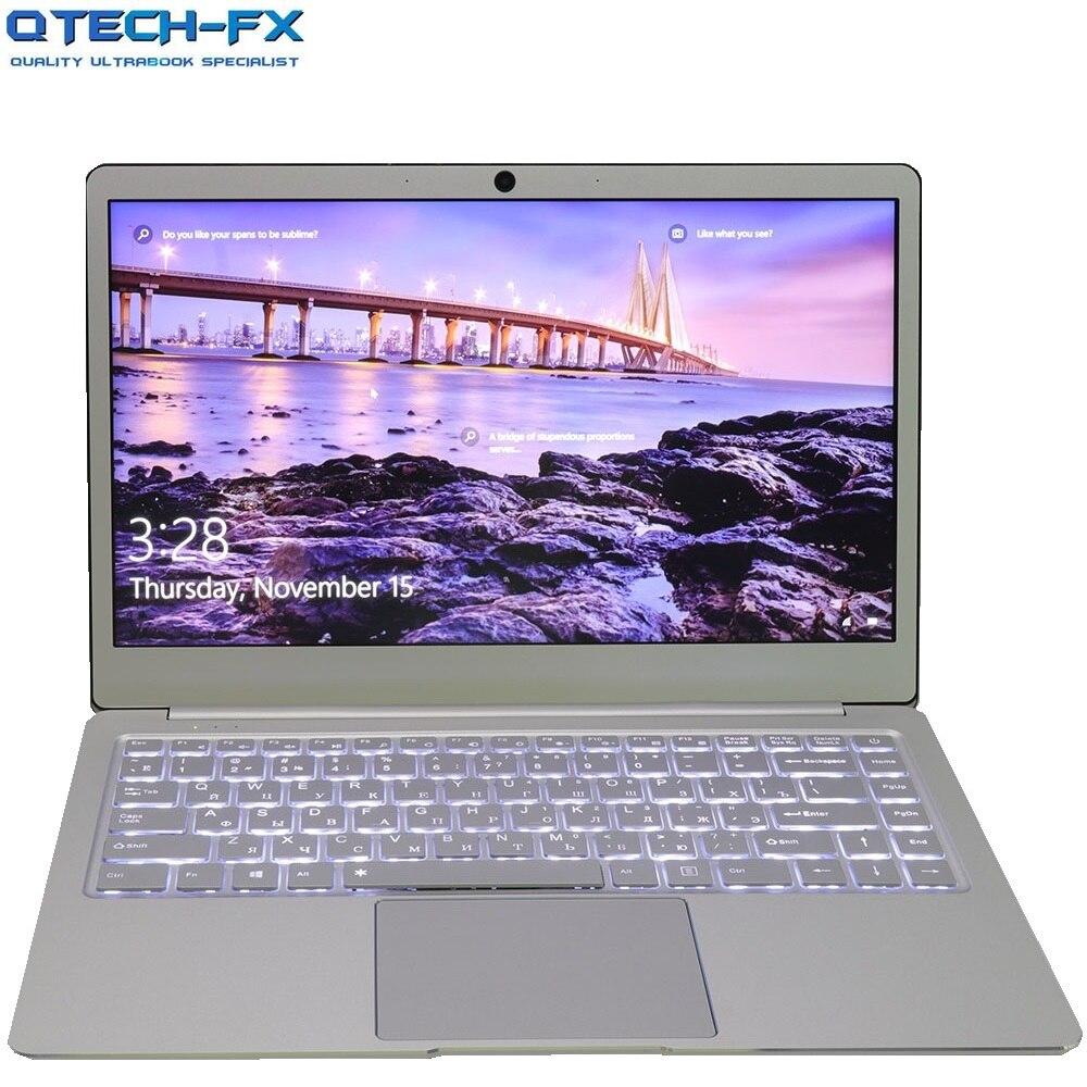 Métal Ultrabook SSD 256 GB 64 GB 512G CPU Intel Windows10 Étudiant Bureau D'ordinateur Portable Arabe Français Espagnol Russe Clavier rétro-éclairé