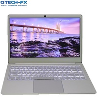 Metal Ultrabook SSD 256GB 64GB 512G CPU Intel Windows10 Student Office Laptop Arabic French Spanish Russian Keyboard Backlit