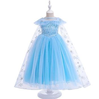 6b9fbdf053 2019 Princesa Elsa vestido para niñas niños Princesa Elza reina vestidos de  los niños disfraces de Halloween fiesta de cumpleaños Cosplay ropa